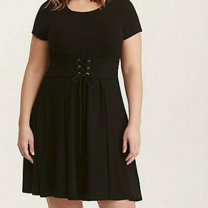 🆕 Torrid black corset dress plus size 0X 12/14W NWT